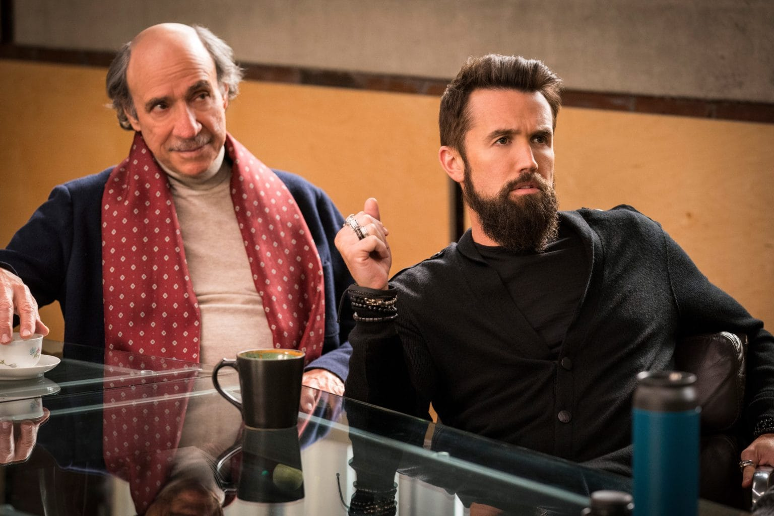 F. Murray Abraham & Rob McElhenney in Mythic Quest: Raven's Banquet
