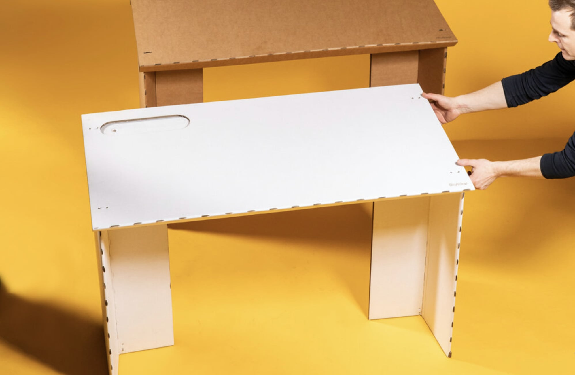 Every list of work-from-home essentials should include a desk. The Stykka desk is made almost entirely from cardboard.