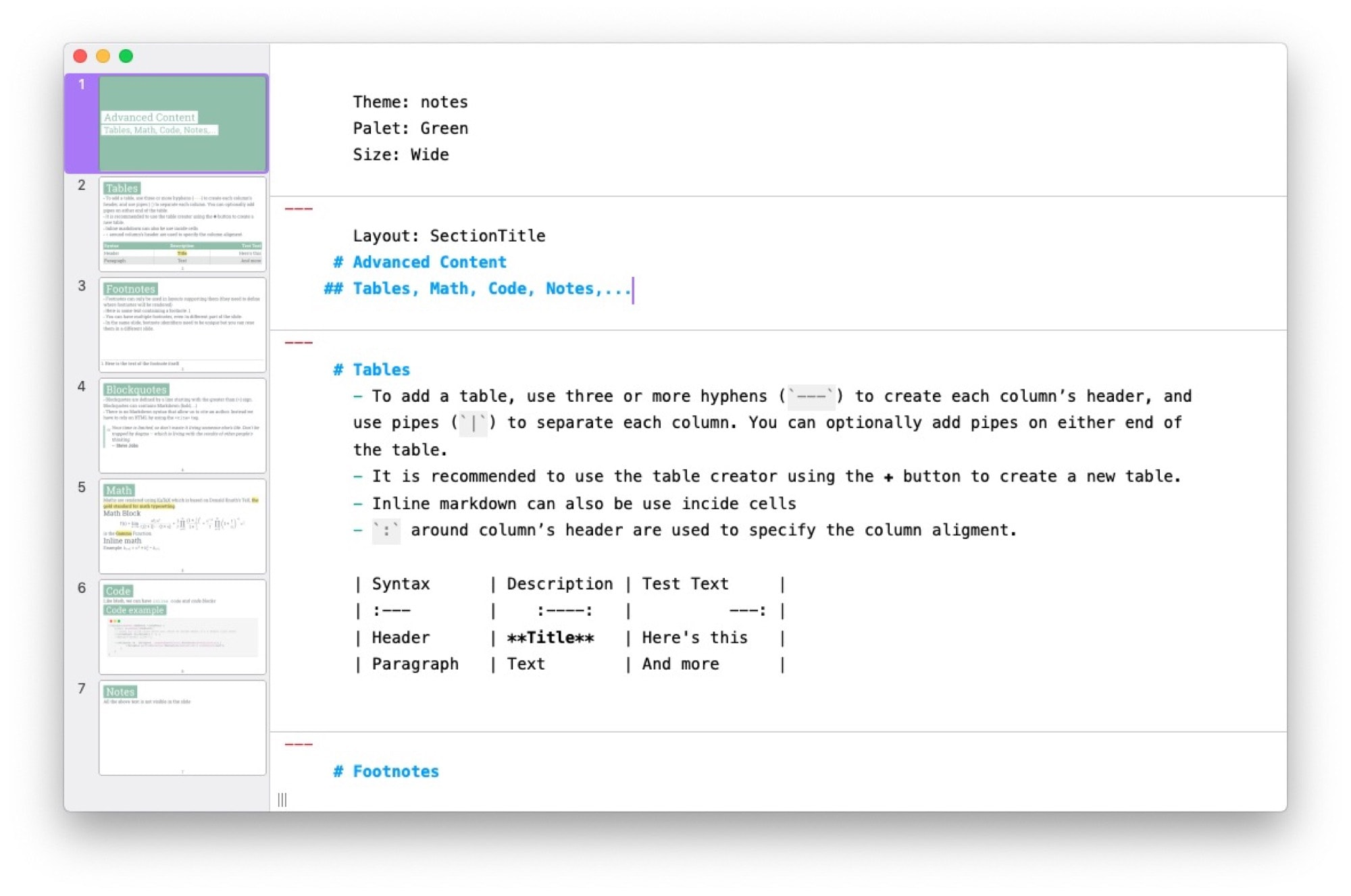 With Markdown-powered presentation app Slideas, your plain text becomes styled slides.