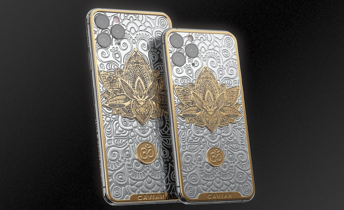 Caviar's silver iPhone collection