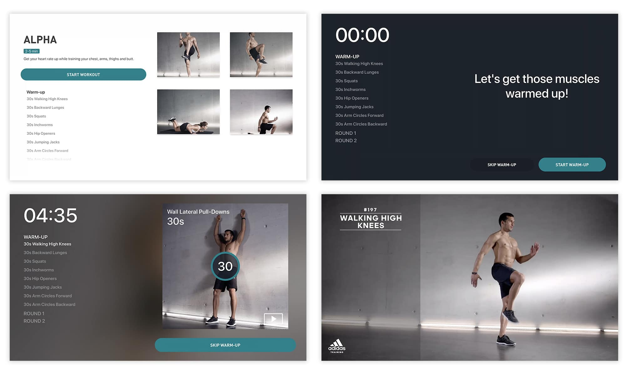 Adidas Training is brilliantly adapted for Apple TV.