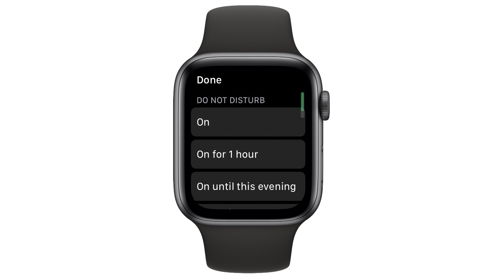 Apple Watch Do Not Disturb.