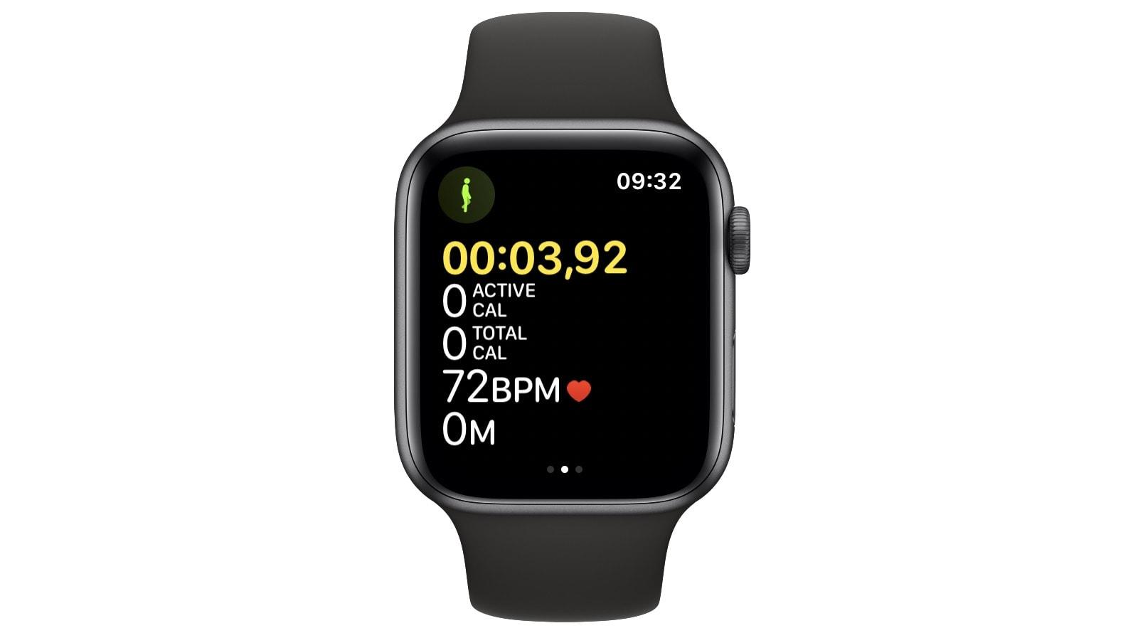 The default Apple Watch Indoor Walk display.