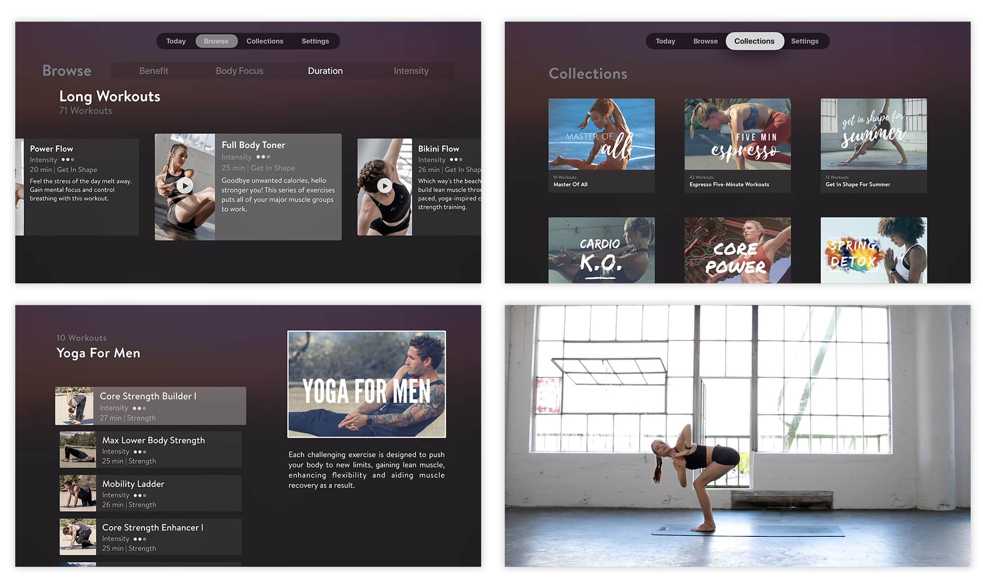 Asana Rebel offers a sumptuous range of workout videos.