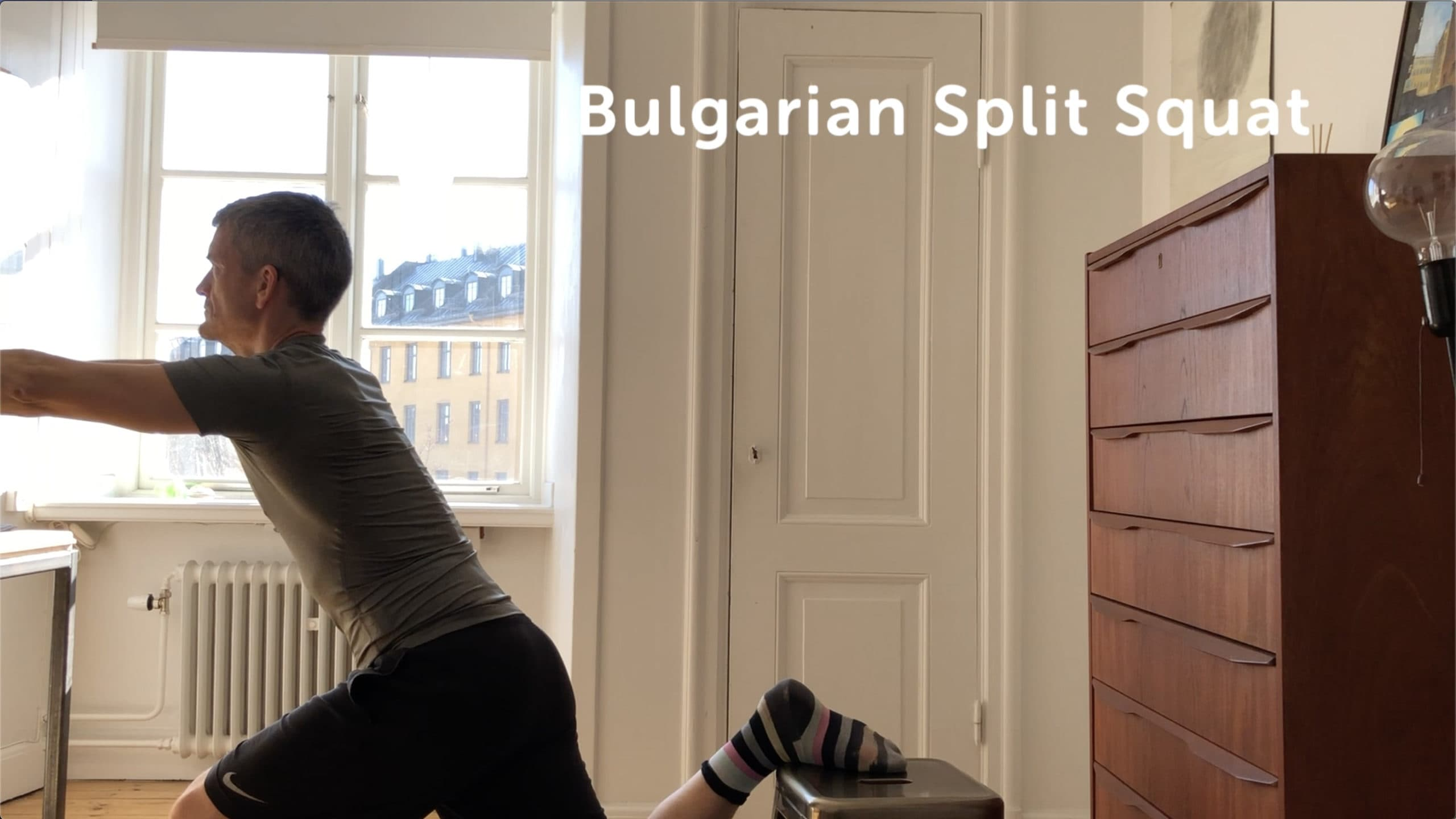 Unilateral exercise: Use one limb to double the weight during Bulgarian Split Squats