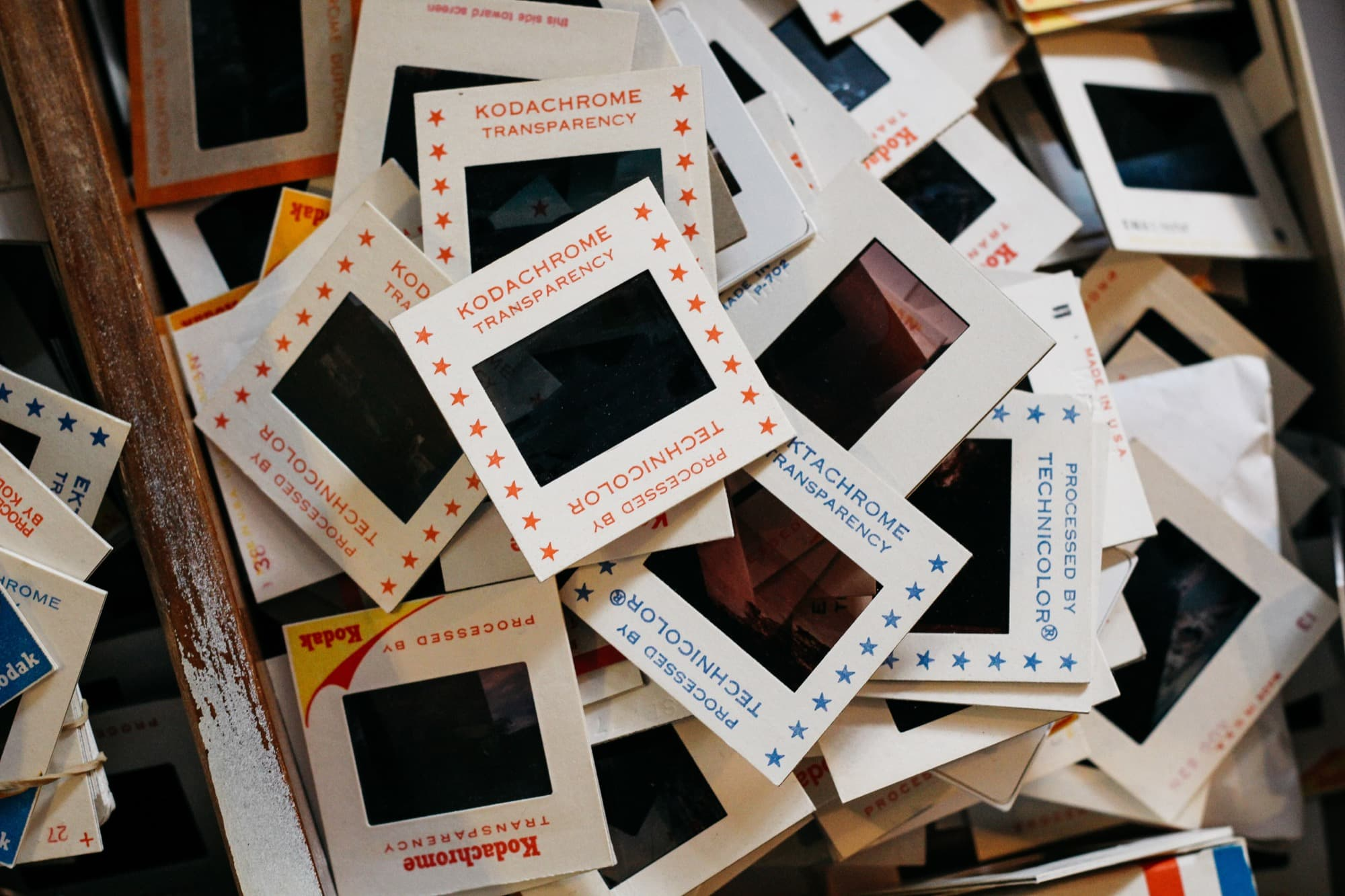 35mm slides in a heap