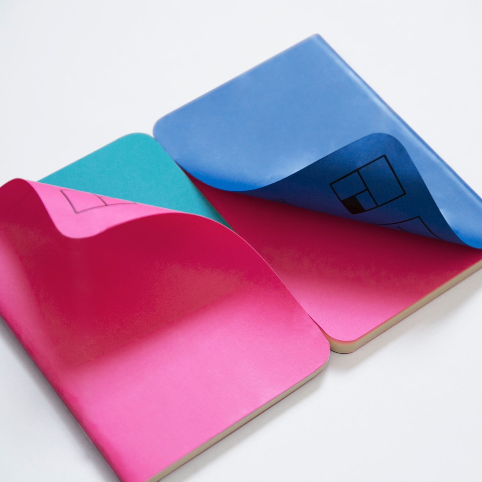 colored notebooks