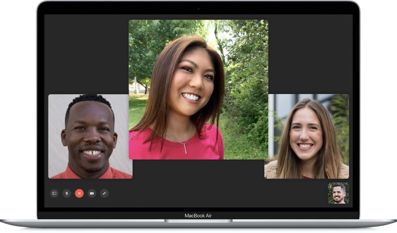A Group FaceTime call on the Mac.