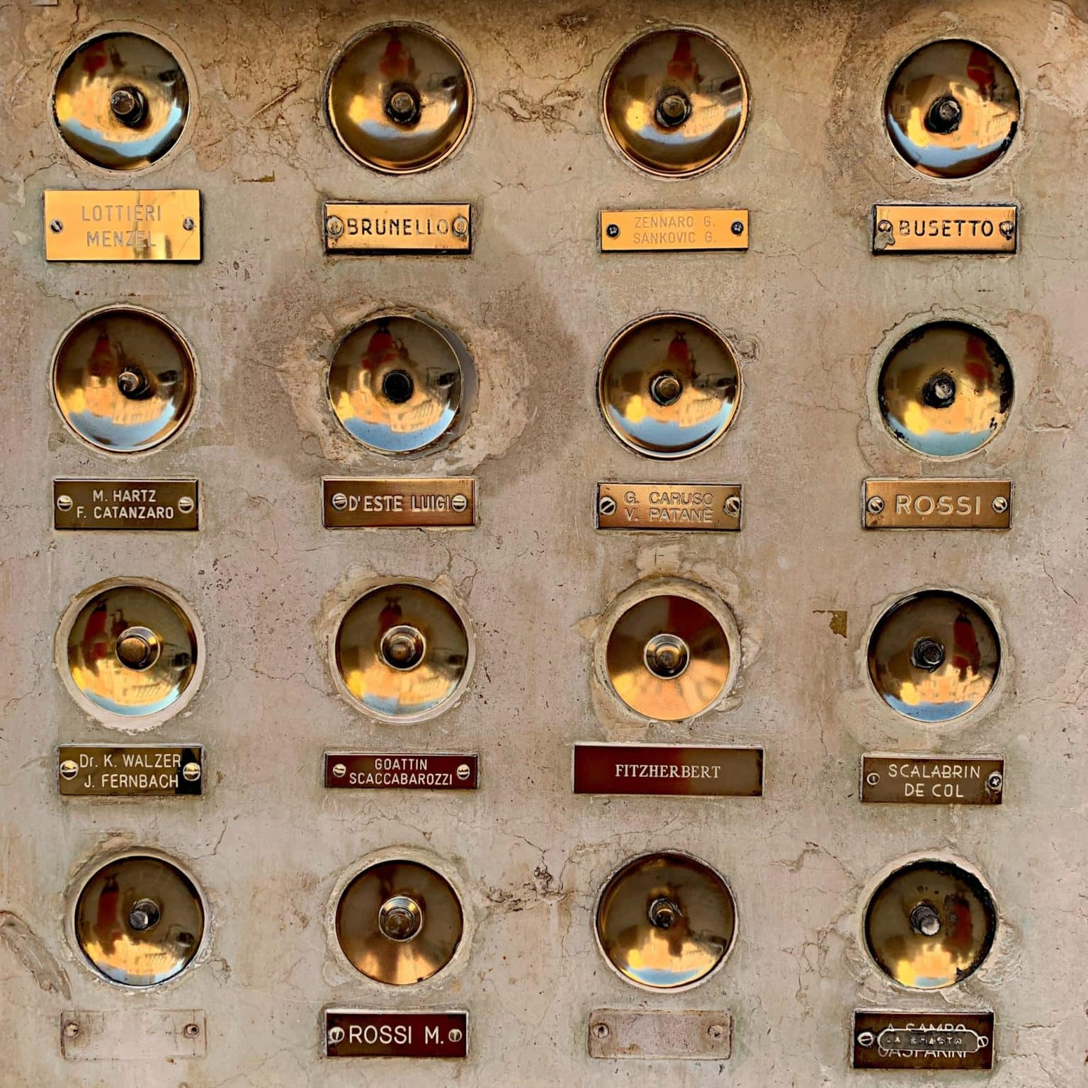 grid of doorbells