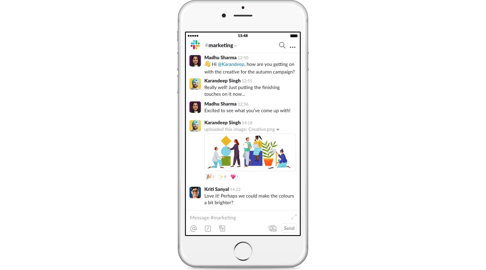 Slack, even on your iPhone.