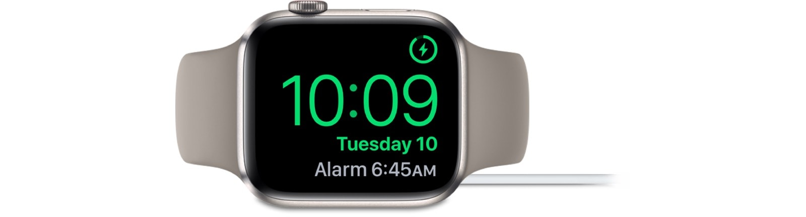 Charge your Apple Watch in nightstand mode, and it becomes a tiny alarm clock.