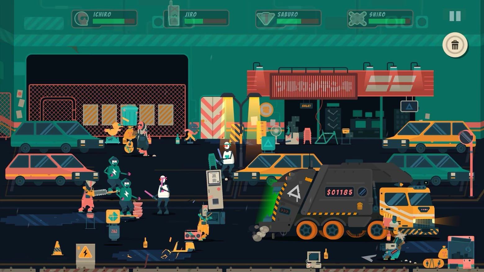 New Apple Arcade game Scrappers turns trash day into a frantic battle