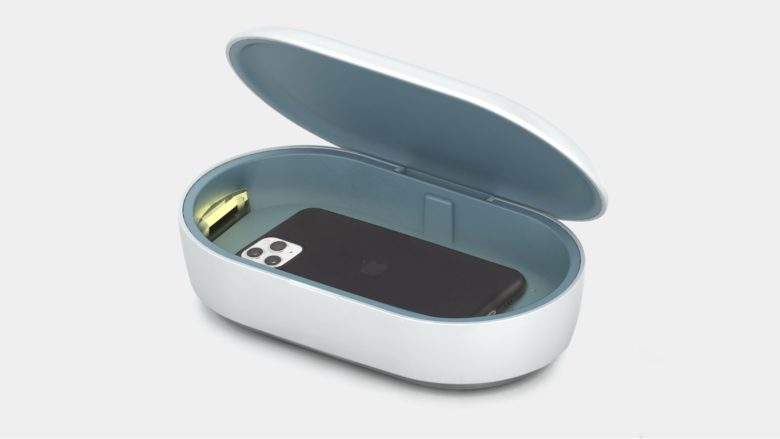 Totallee UV Phone Sanitizer with iPhone.
