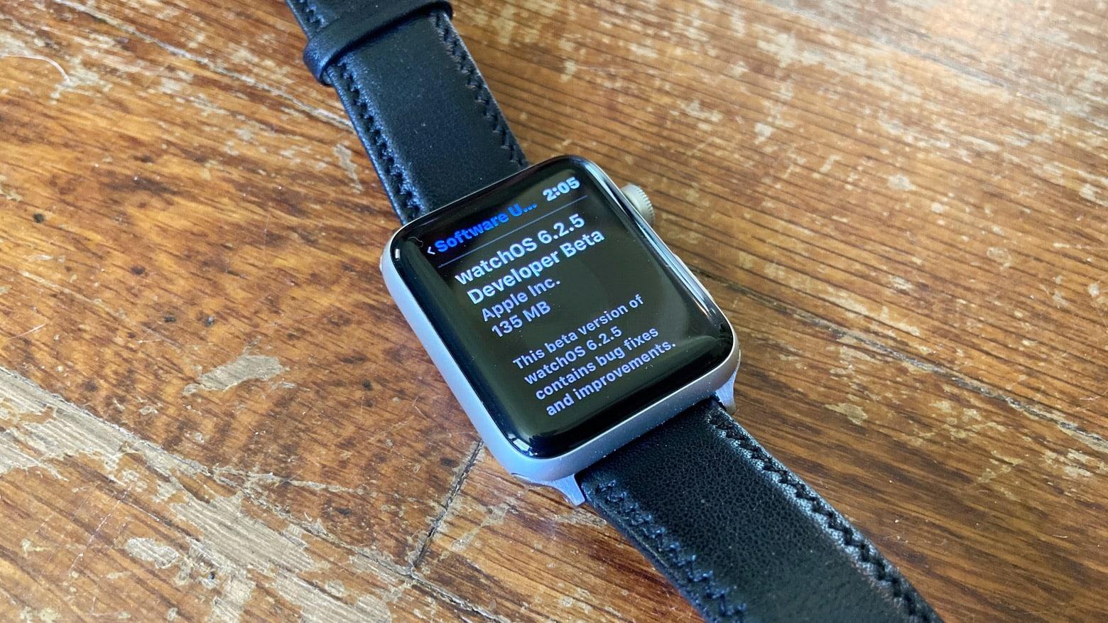watchOS 6.2.5 beta 1