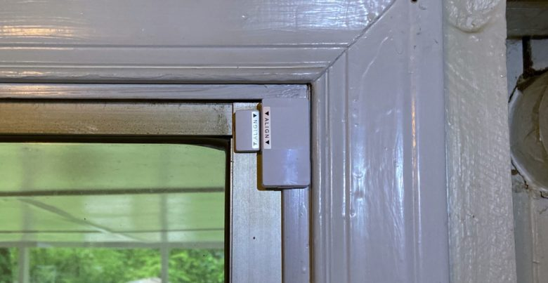 Abode Iota can be used on a siding-glass door.