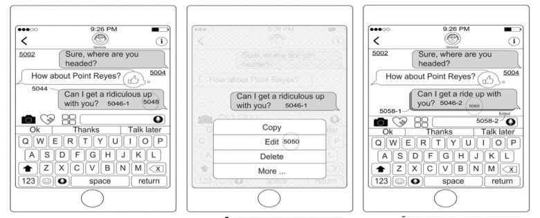 Apple designed a stem for editing sent texts
