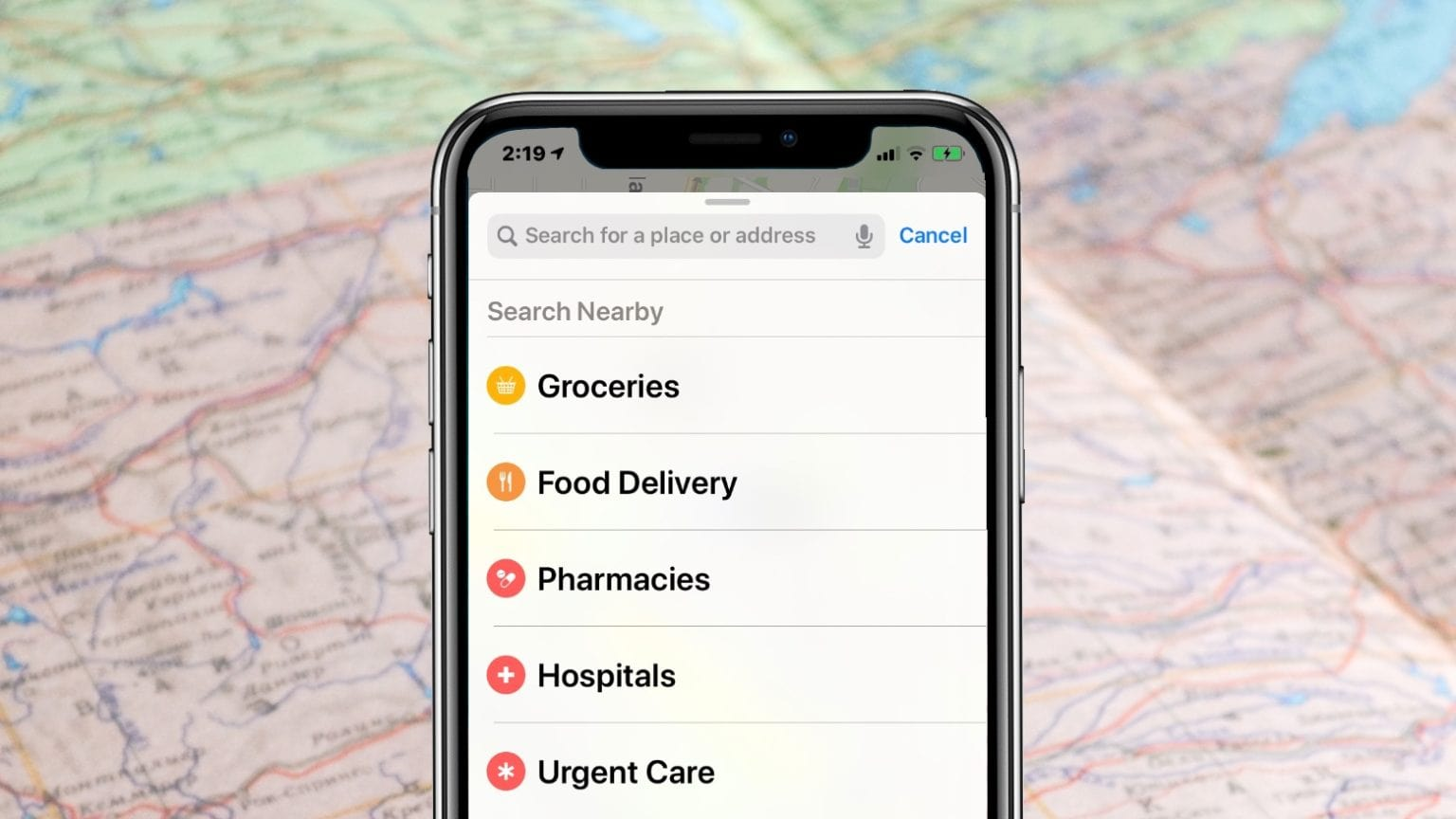 Apple Maps helps you find food and medicine in the COVID-19 crisis.