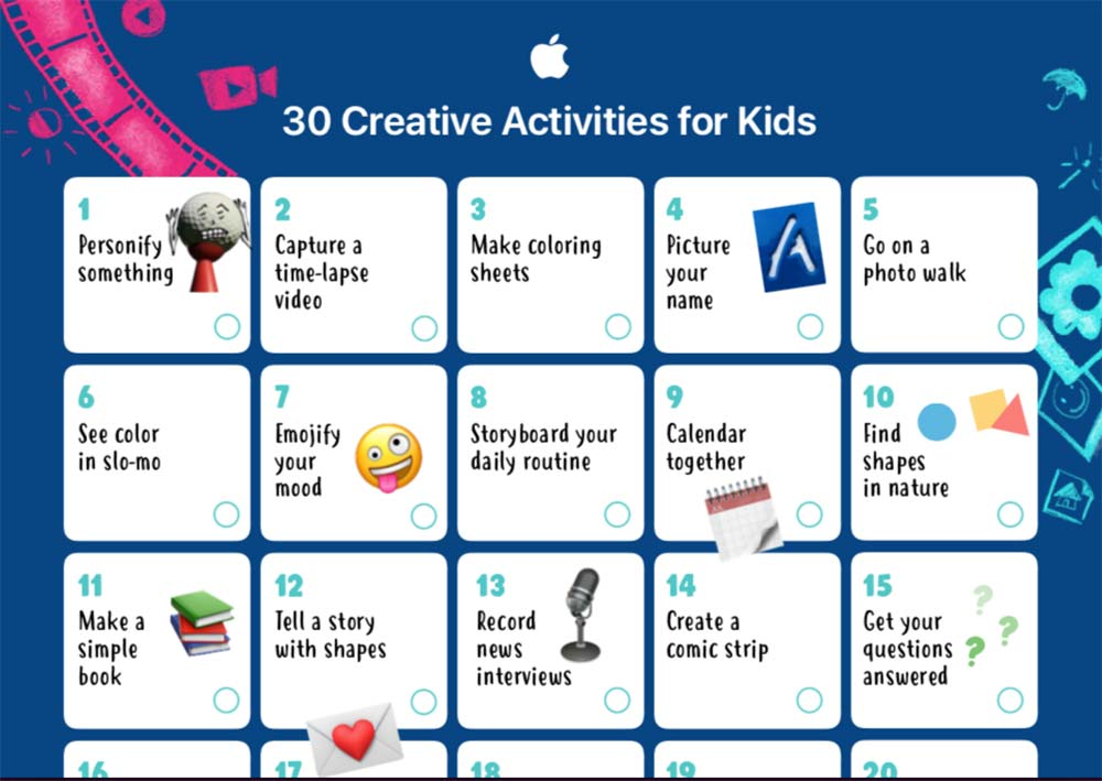 Apple Education creates fun activities