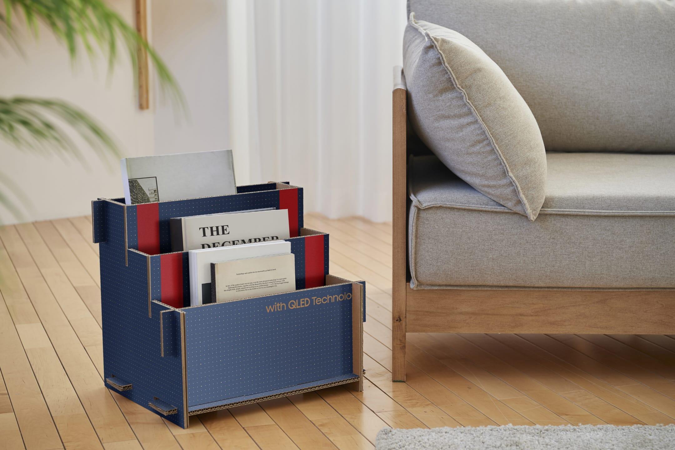 Samsung-TV-box-book-rack