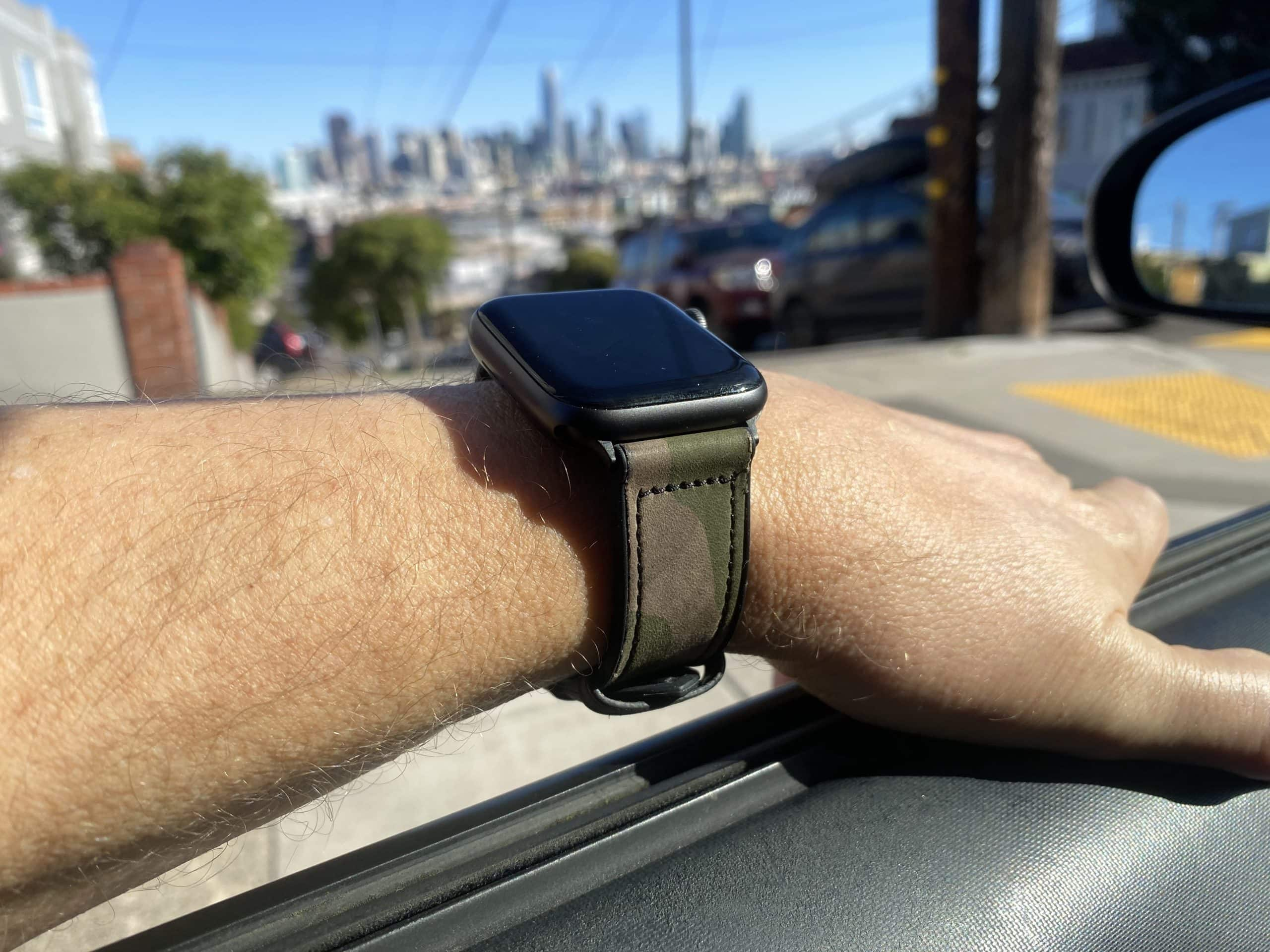 Mifa's Hybrid Sports Leather Apple Watch Band is an inexpensive but classy strap.