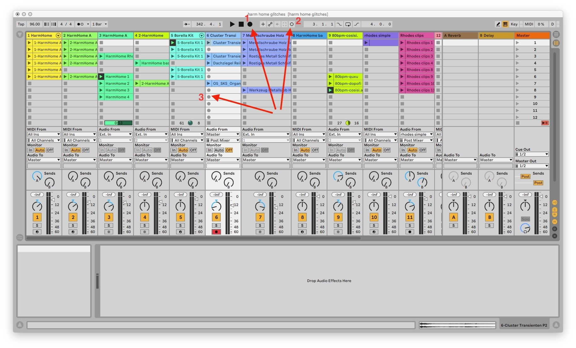Recording in Ableton Live: As easy as 1.2.3.