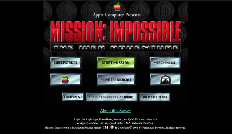 Mission: Impossible The Web Adventure: Apple's big Hollywood promo proved about as effective as a shoe phone.