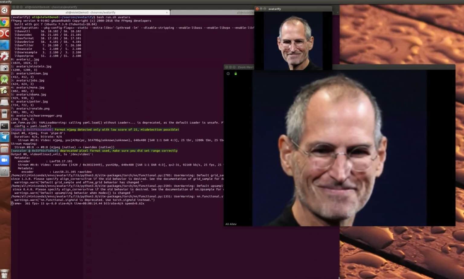 Steve Jobs Zoom call