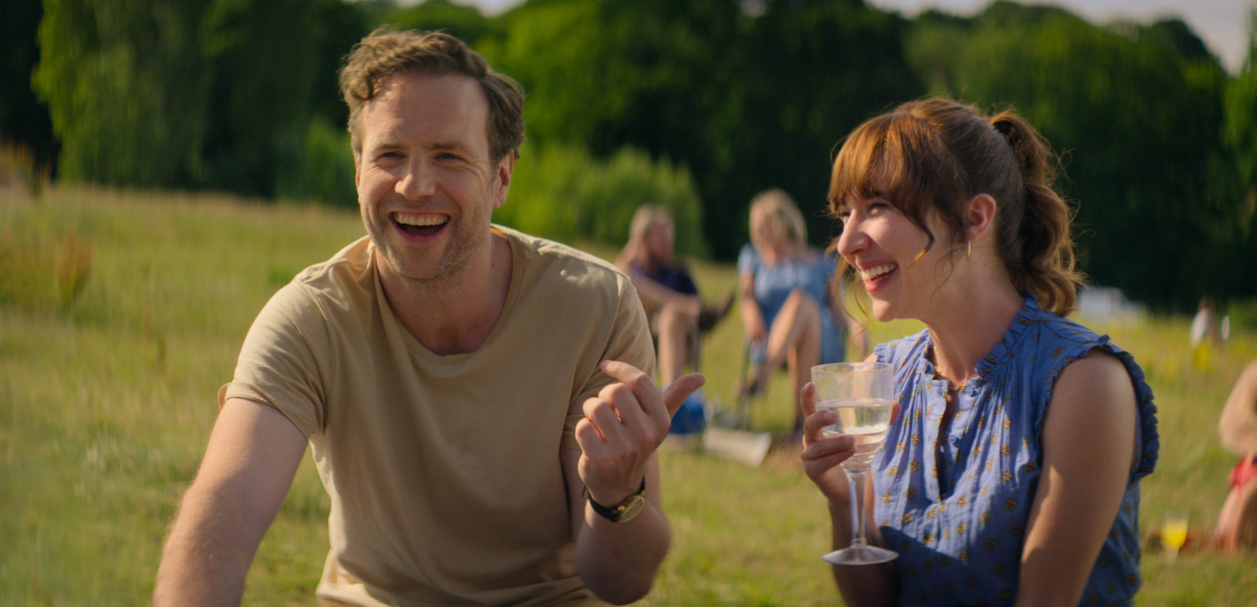 Rafe Spall and Esther Smith play parents who don't deserve children in Apple TV+'s new series <em>Trying</em>.