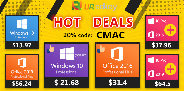 URcdkeys 20% off sale, April 2020