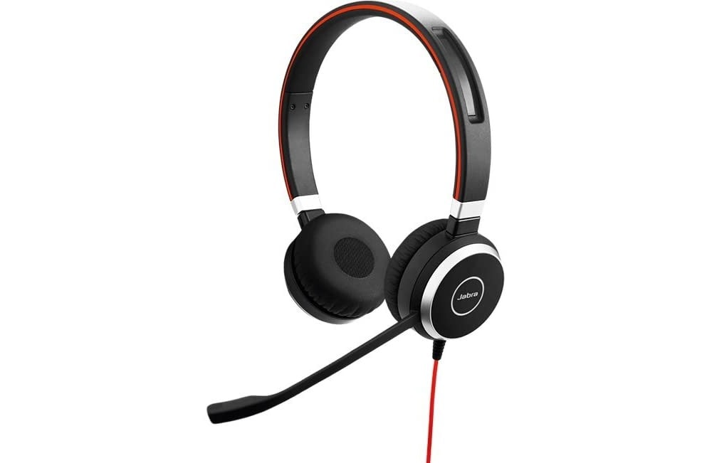 A headset like this one from Jabra offers the best balance of comfort, convenience, and quality.
