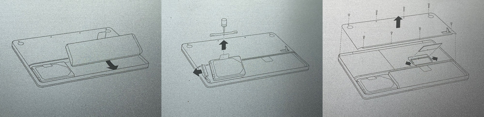 This Mac even has repair instructions on the inside of the battery panel.