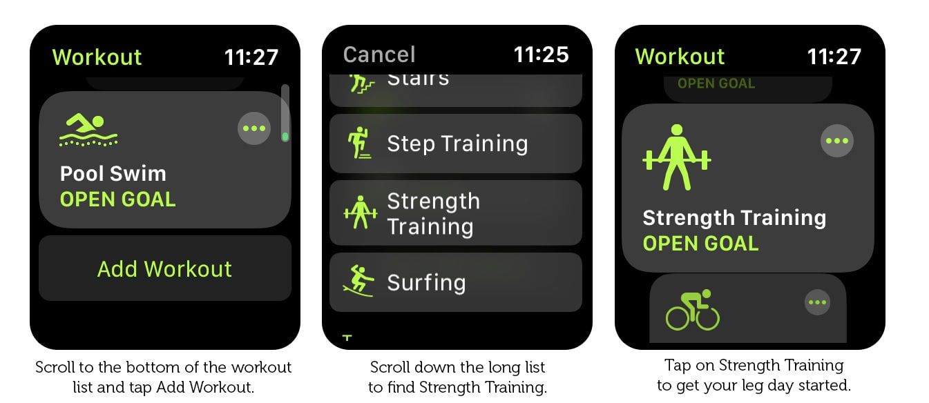 How to log leg day with Apple Watch