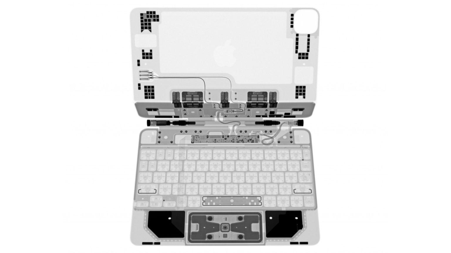 iPad Pro Magic Keyboard in X-ray
