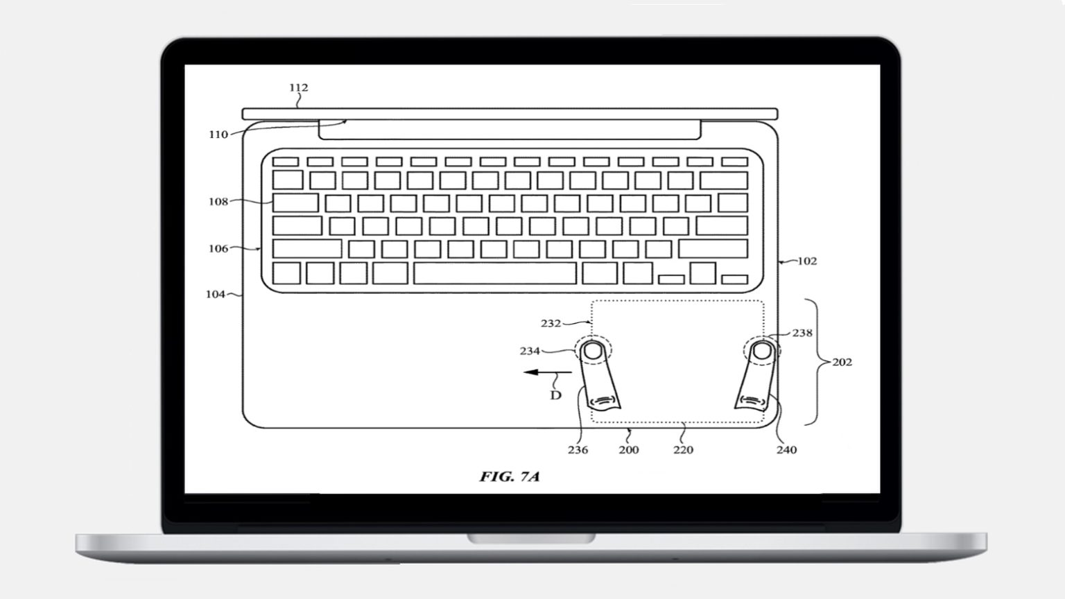 A touch sensitive area could make a MacBook trackpad movable.