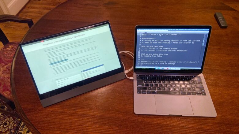 Two screens are better than one. Especially when one is from Espresso Displays.