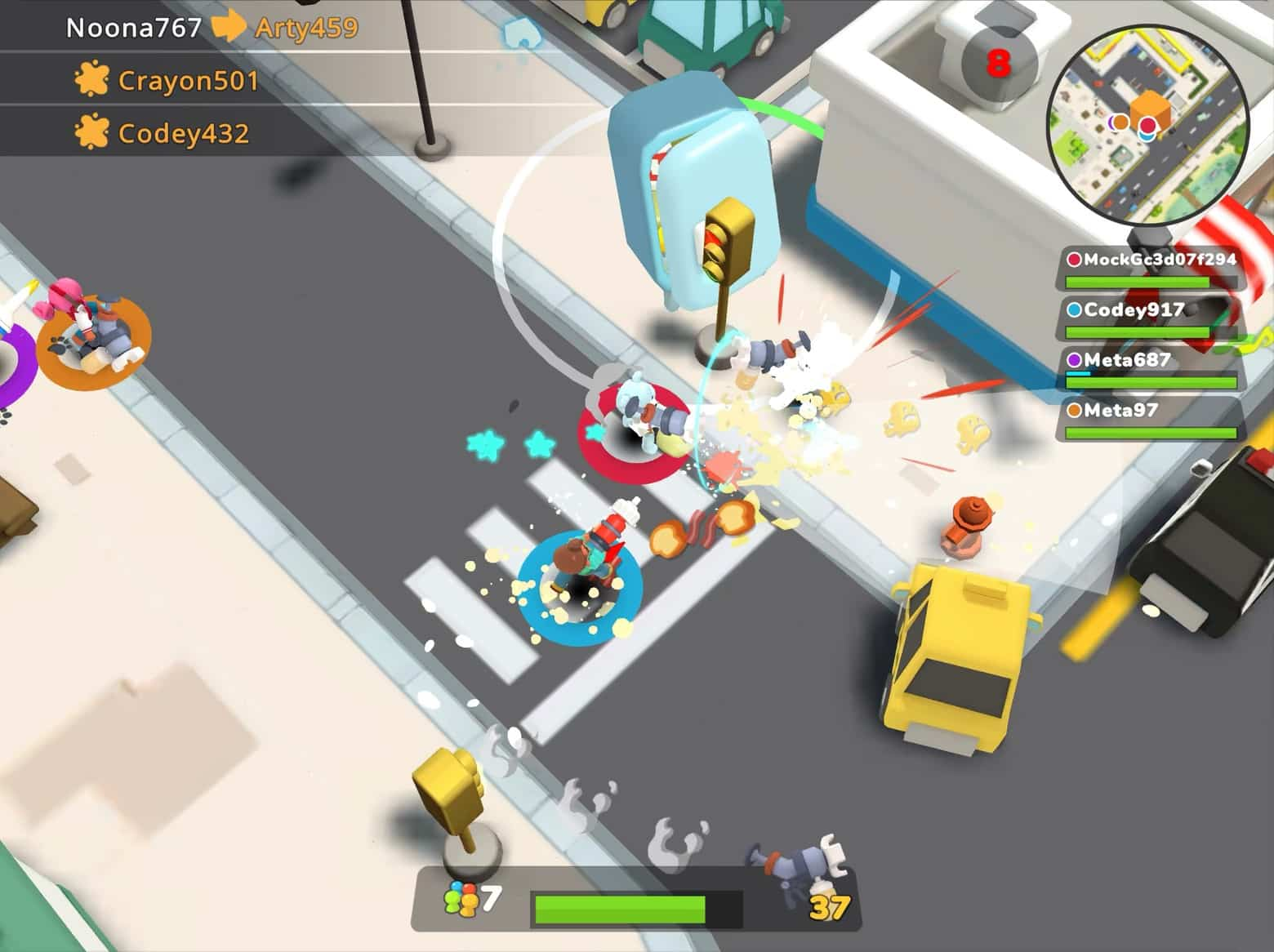 Best Apple Arcade games: Butter Royale is a Fortnite-like food fight that's safe for little kids to play.