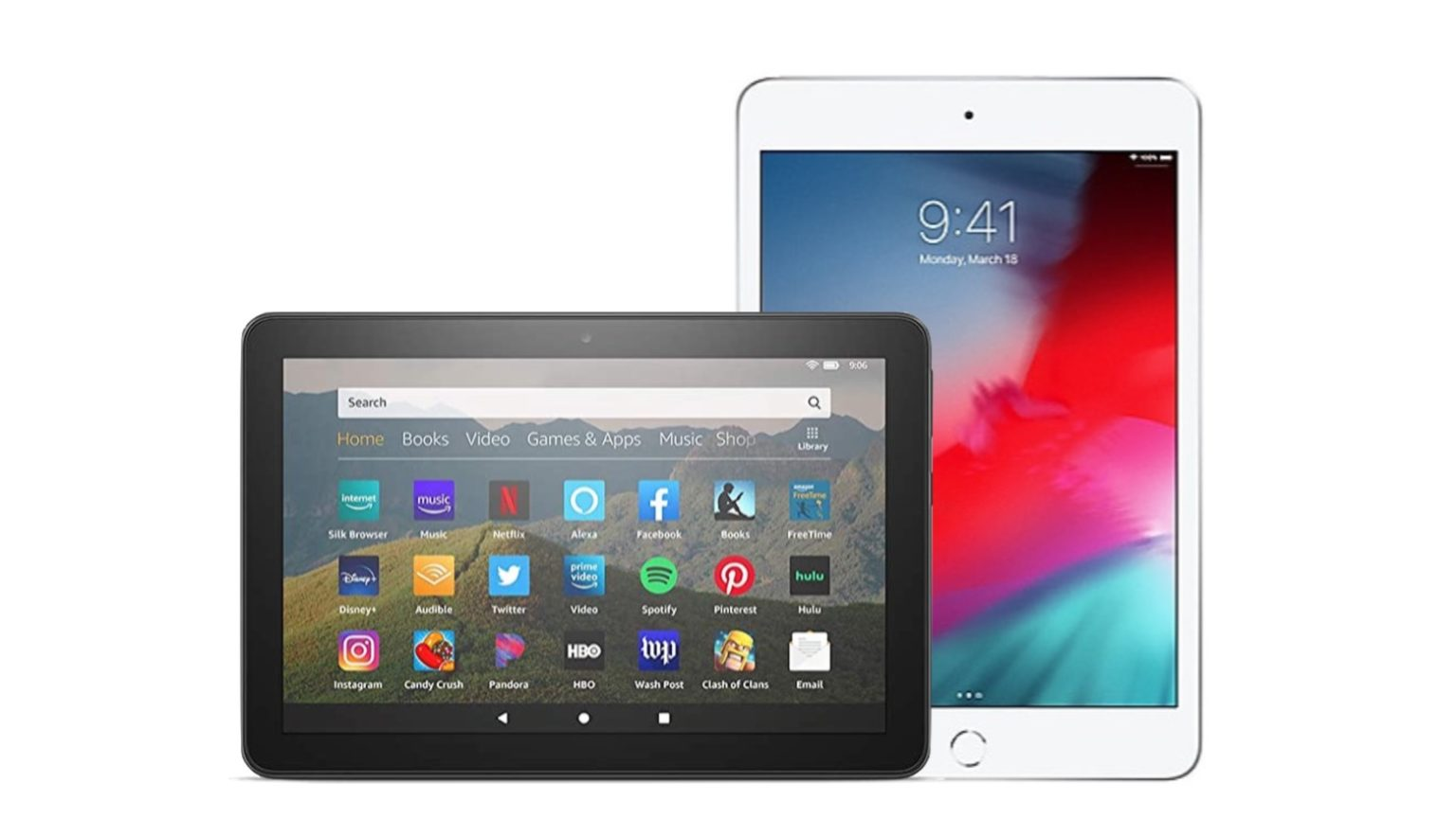 Amazon Fire HD 8 takes on Apple iPad mini 5