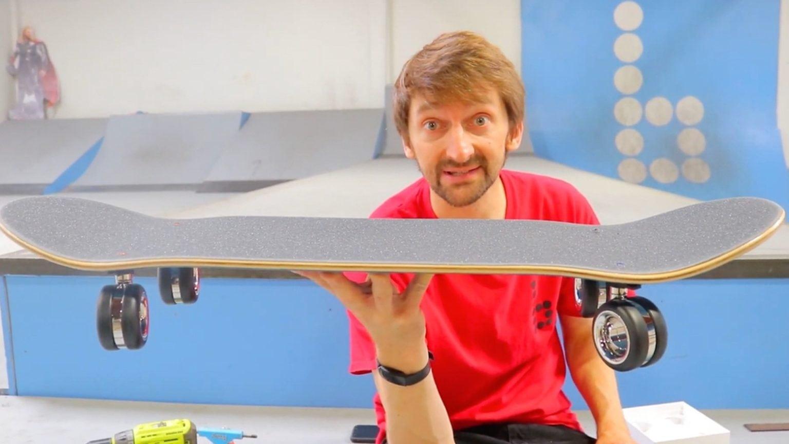 Mac Pro wheels don't make a great skateboard.