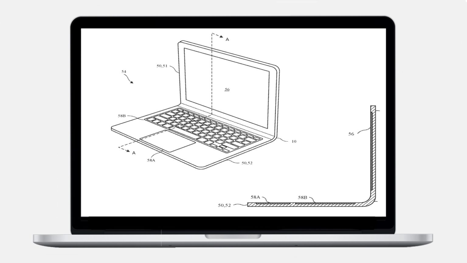 A bendable MacBook stared in an Apple patent filing.