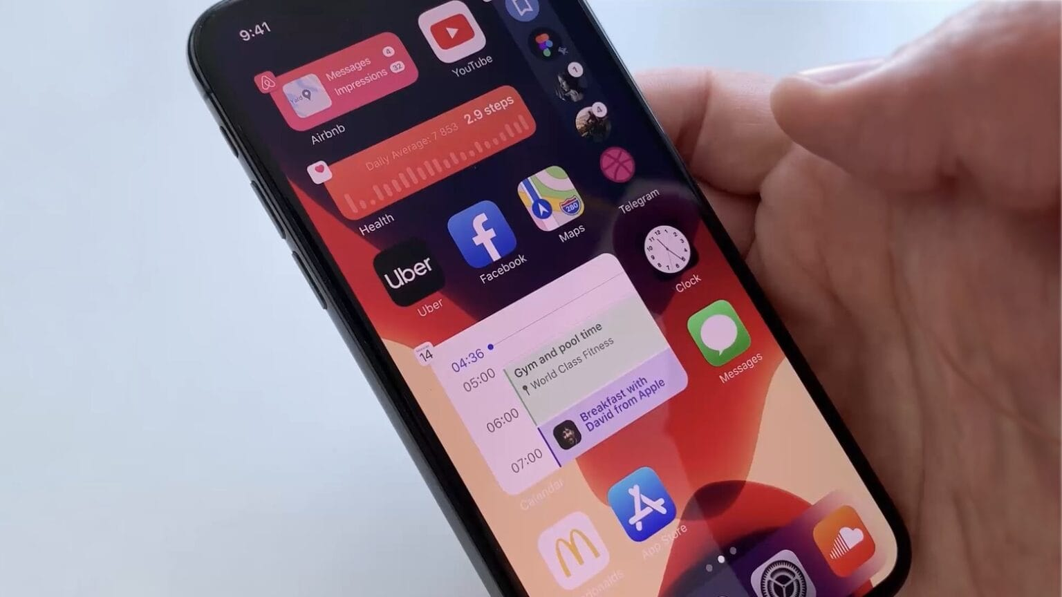 iOS 14 concept includes multiple widgets