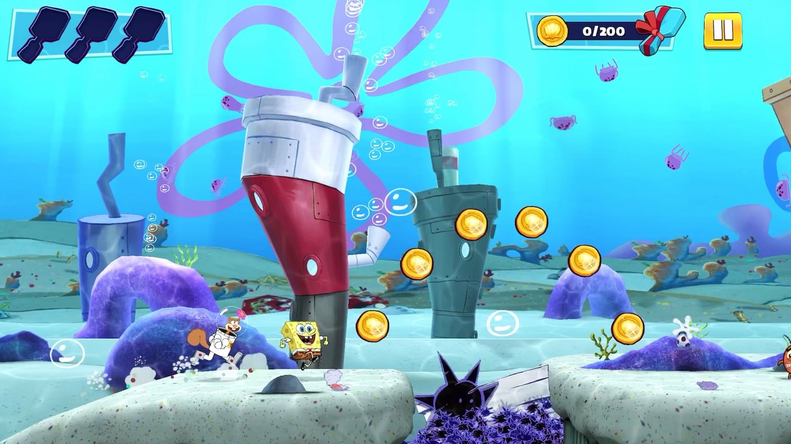 Help SpongeBob and friends defeat Plankton in Patty Pursuit on Apple Arcade