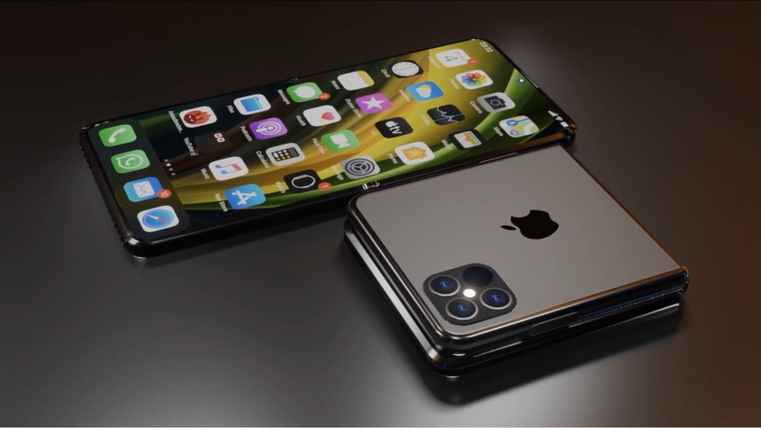 The foldable iPhone 12 Flip concept could someday be a reality.