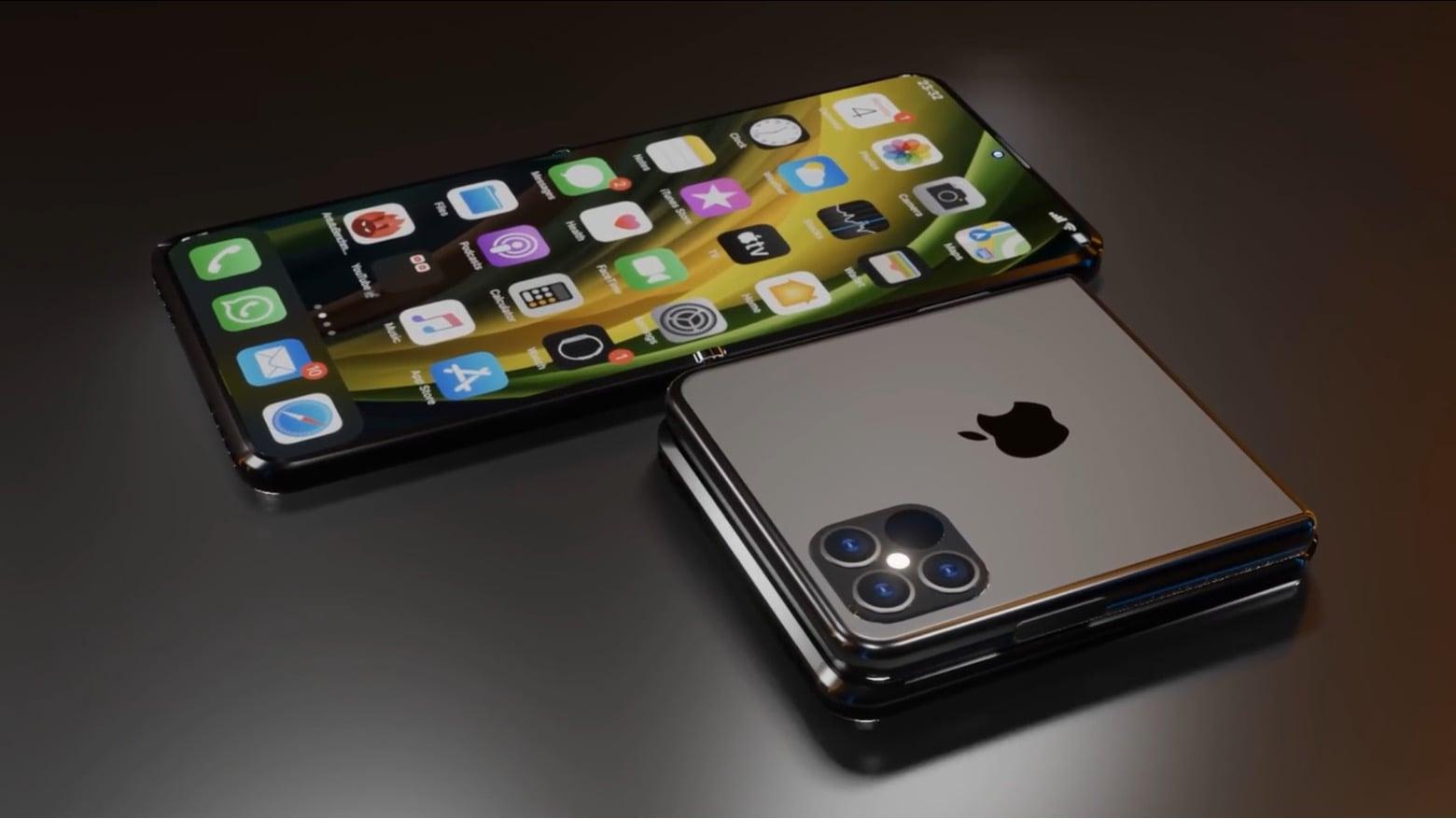 Foldable Iphone 12 Flip Concept Makes Ios Handsets Pocketable Again