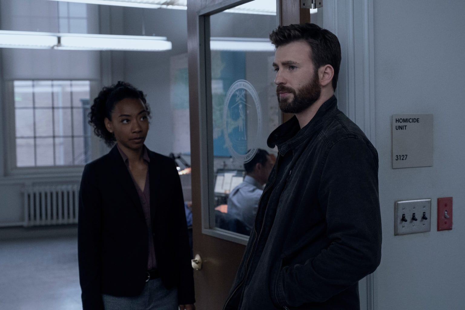 Betty Gabriel and Chris Evans anchor the uniformly strong crime drama Defending Jacob.