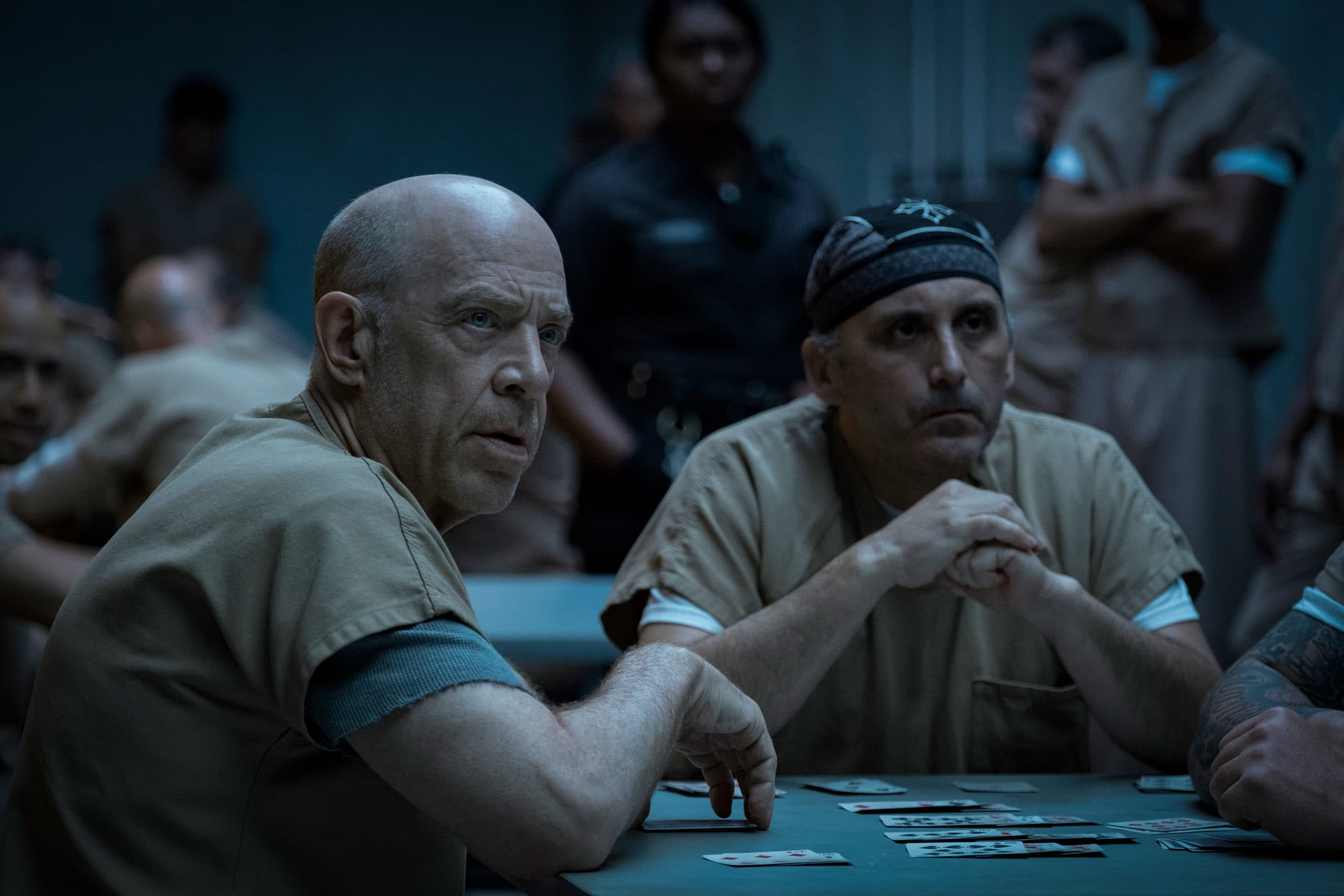 J.K. Simmons quietly slays as Bloody Bill Barber in <em>Defending Jacob.</em>