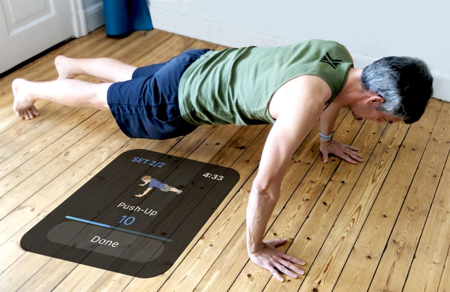 Log push-ups effortlessly with iPhone and Apple Watch