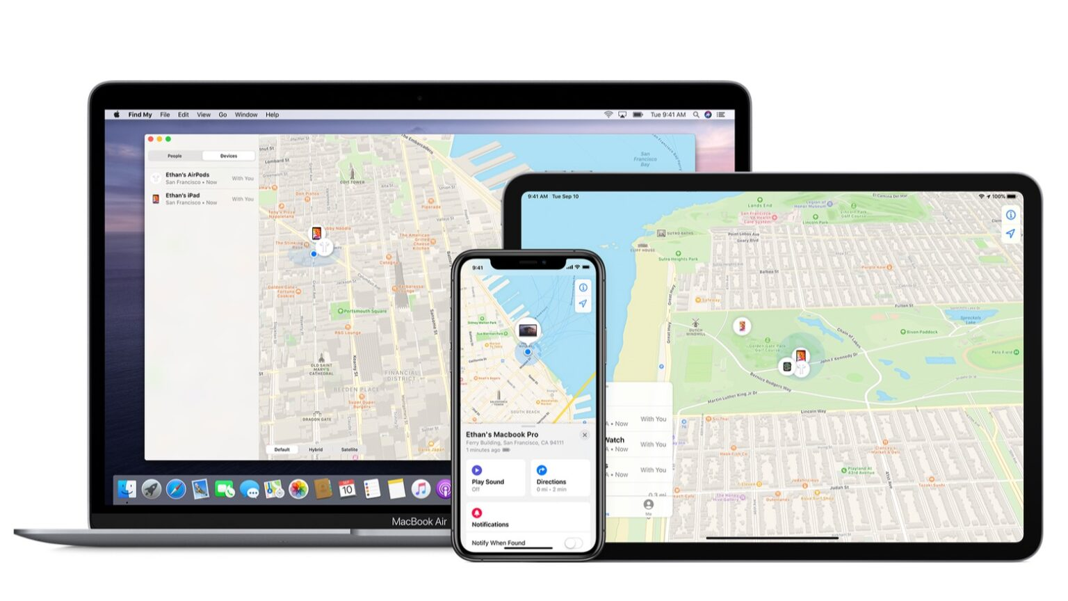 The Find My Network is created by iPhone, iPad and Mac devices