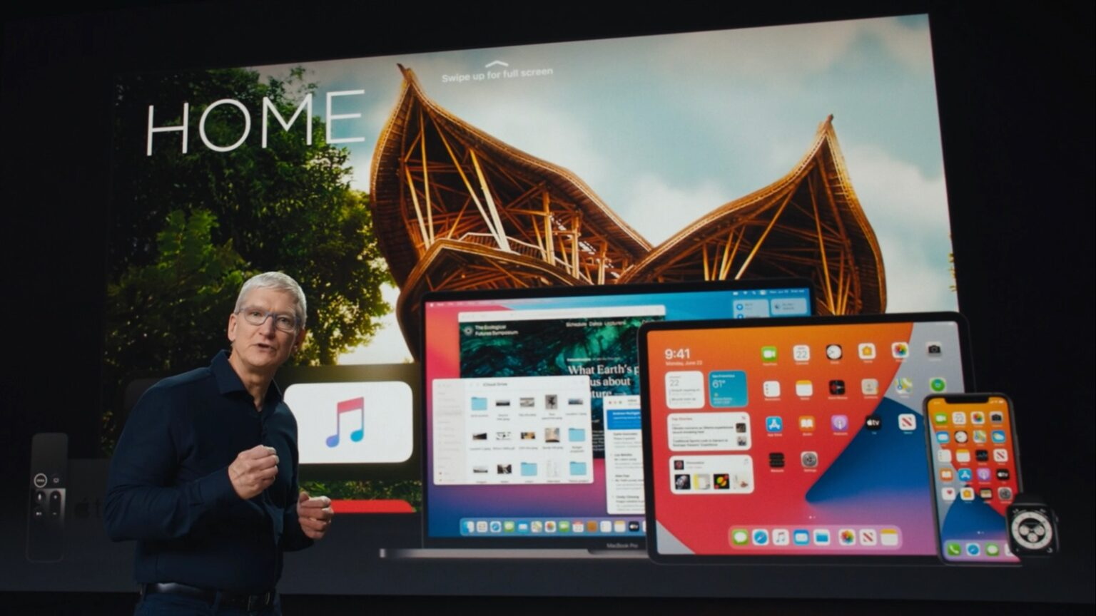 Tim Cook opened and closed WWDC 2020
