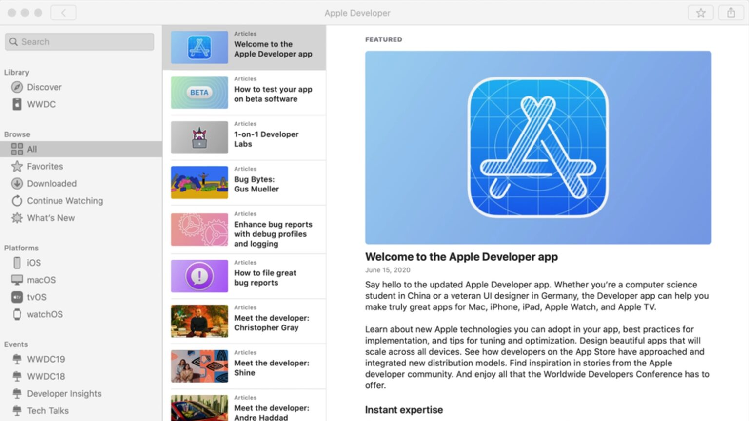 Apple Developer for Mac is finally here.