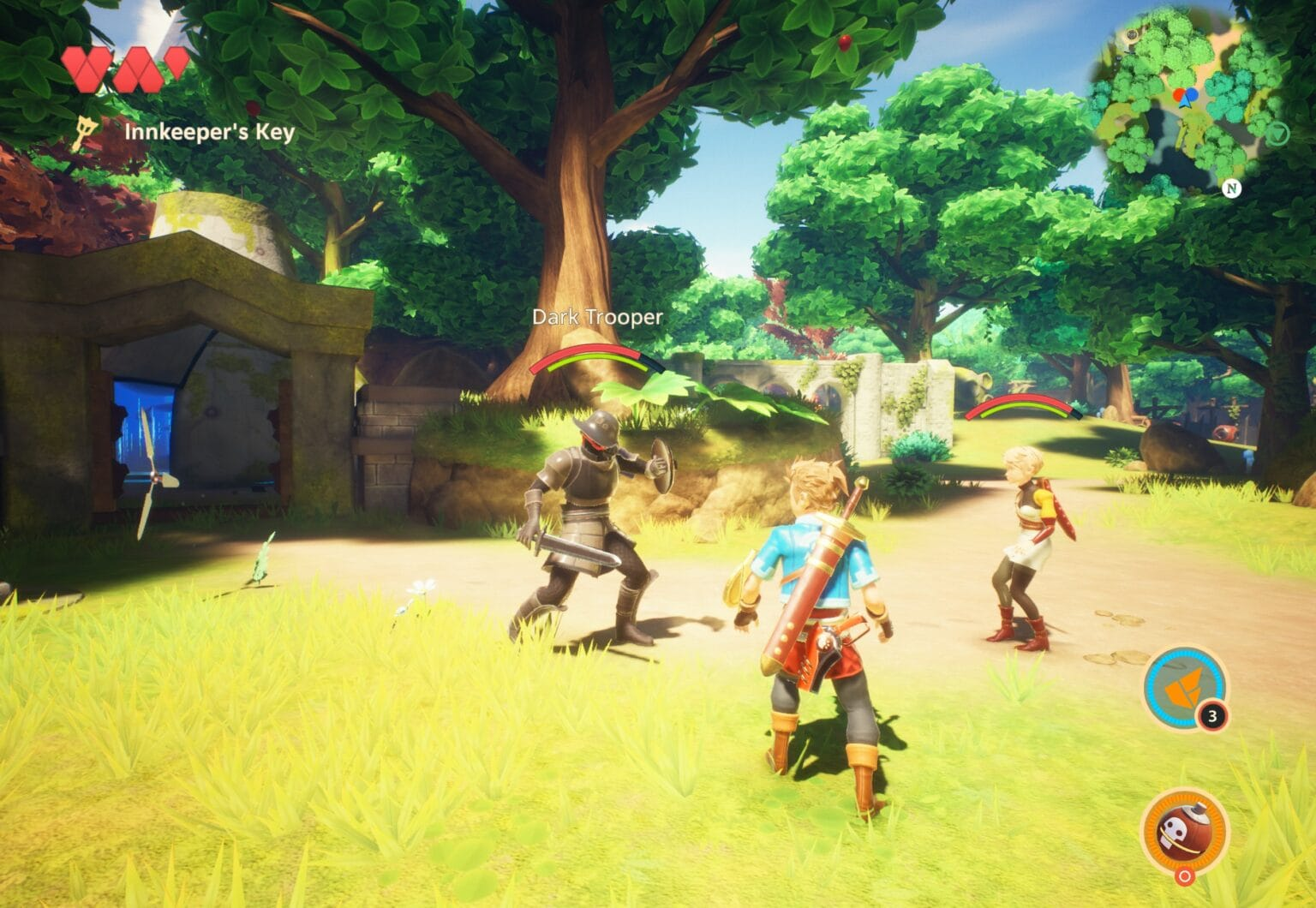 Oceanhorn 2: Knights of the Lost Realm involves battling robots with swords.